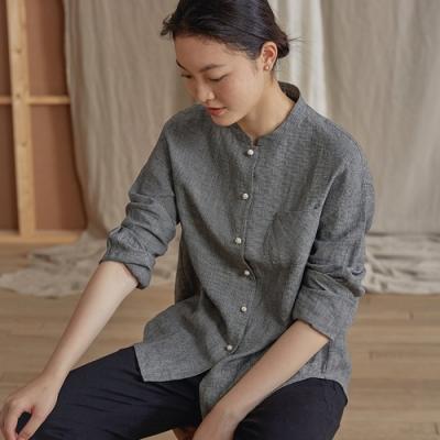 旅途原品_秋日映像_原創設計亞麻色織格紋襯衫- 花色
