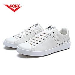 【PONY】TOP STAR 時尚皮革百搭情侶款小白鞋休閒鞋 運動鞋男鞋 白