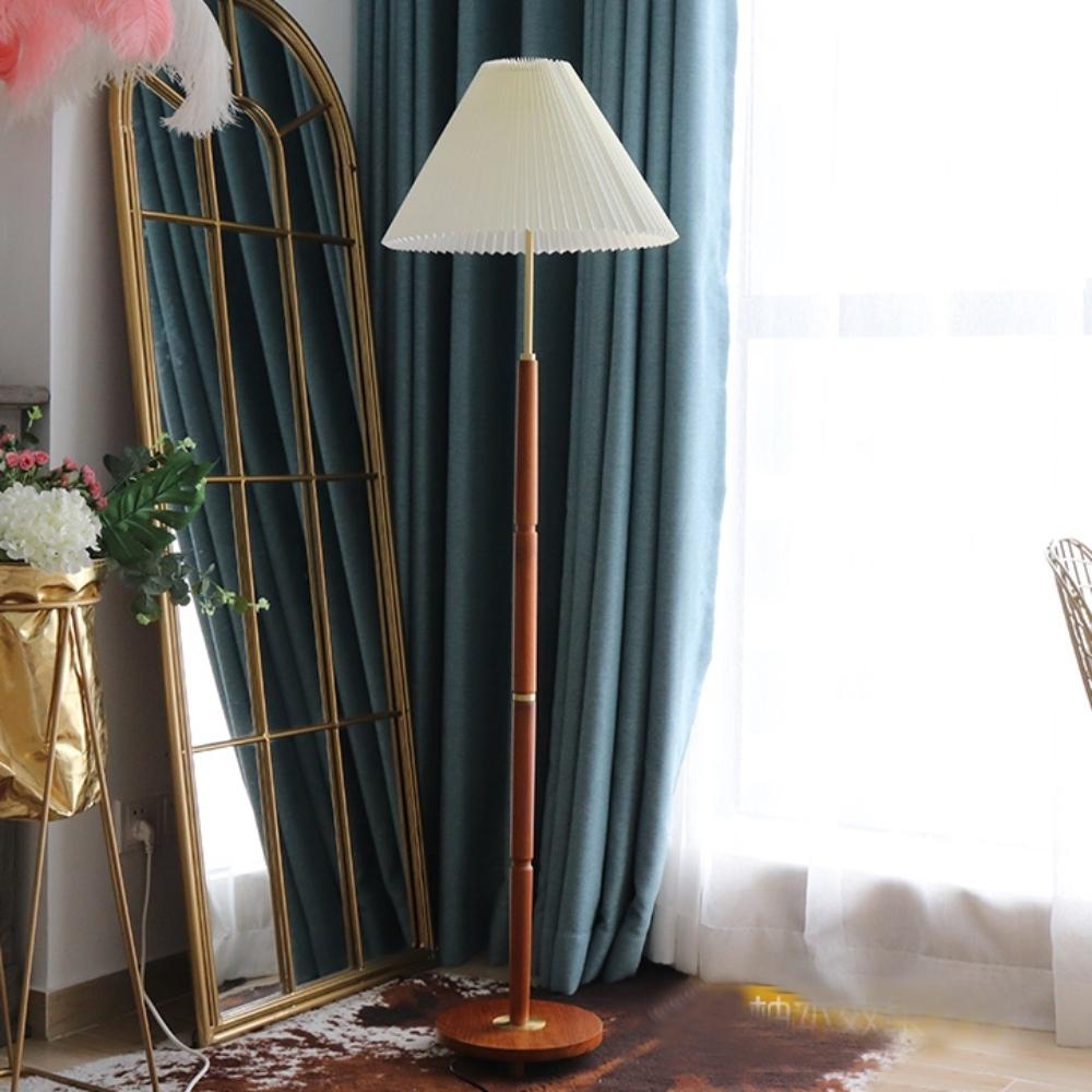 H&R安室家 雨果原木落地燈ZA0187