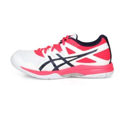 ASICS 女 排羽球鞋 GEL-TASK 2 白亮粉丈青
