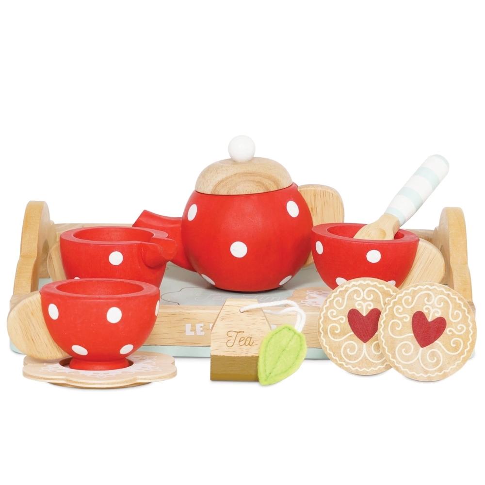 英國 Le Toy Van 角色扮演系列-甜心下午茶茶具玩具組