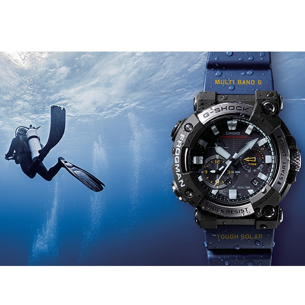 CASIO G-SHOCK FROGMAN蛙人200米潛水錶(GWF-A1000-1A2)