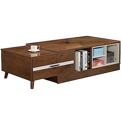 文創集 威尼4.4尺大茶几(4.4尺-5.2尺桌面伸縮設計)-155x70x45cm免組