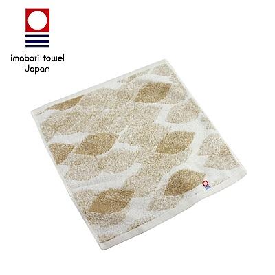 日本今治 純天然有機棉無染色方巾(落葉-秋香綠)