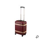 【日本製造PROTECA】雅緻-21吋經典復古行李箱(古典酒紅)