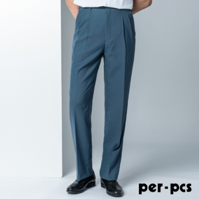 per-pcs 時尚紳士打摺西裝褲_時尚灰藍(82266)