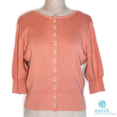 earth music 2WAY附珍珠釦針織上衣