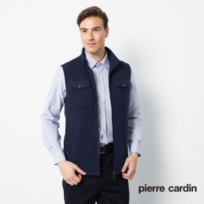 Pierre Cardin皮爾卡登 男裝 帥氣針織布保暖背心-深藍色(5205301-38)