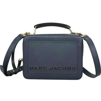 MARC JACOBS THE BOX 23 雙拉鍊牛皮手提/肩背包(深藍色)