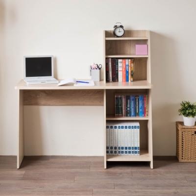 [時時樂限定]TZUMii 桑田造型層架式書桌120*47*123cm