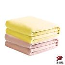 金德恩 加大型珊瑚絨雙層包邊毛毯150x190cm+1包超長效手持式暖暖包10片/包