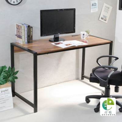 澄境 工業風附插座平面式加粗鐵管電腦桌110x60x75.5cm-DIY