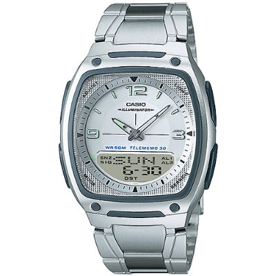 CASIO 個性時尚雙顯錶-白(AW-81D-7A)/38.6mm