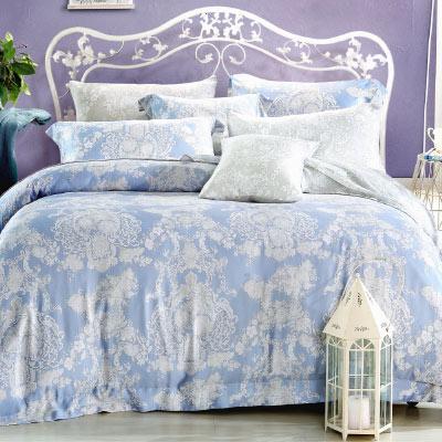 Saint Rose 愛的華爾曼 加大100%純天絲兩用被套床罩八件組