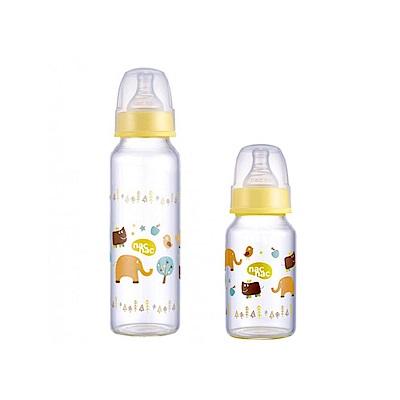 【麗嬰房】nac nac 好朋友系列(ZOO)-吸吮力學標準輕量耐熱玻璃奶瓶 120+240ml