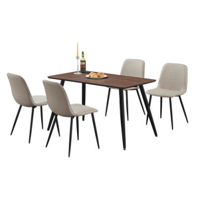 柏蒂家居-萊恩斯4尺餐桌椅組(一桌四椅)-120x70x76cm
