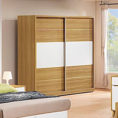 AS-貝莉雙色5x7尺衣櫥-144.8x60.5x197cm