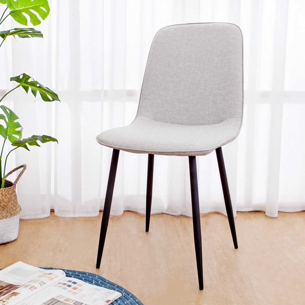 Boden-奇克工業風皮革餐椅/單椅(四入組合)-45x49x88cm