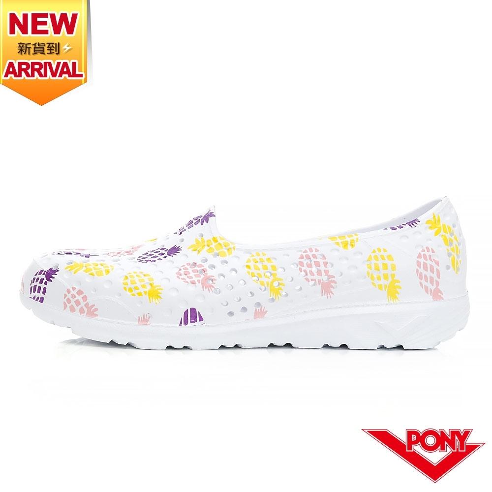【PONY】TROPIC GOGO鞋  洞洞鞋 晴雨鞋 水鞋 涼鞋 女鞋-鳳梨/珊瑚粉