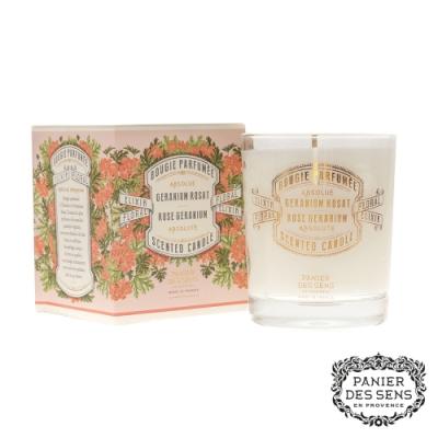 法國 Panier des Sens 香氛蠟燭-玫瑰天竺葵 Rose Géranium 180g