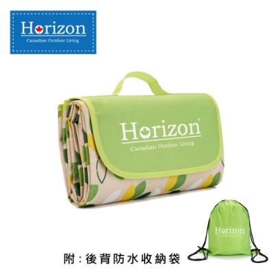 【Horizon 天際線】 防潮沙灘野餐墊 180x145cm 落葉綠 (附肩背收納袋)