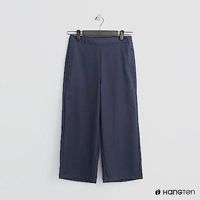 Hang Ten - 女裝 - 簡素面後鬆緊寬褲 - 藍