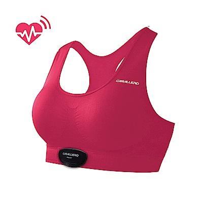 【CABALLERO】女款心跳感測短版運動背心 桃紅