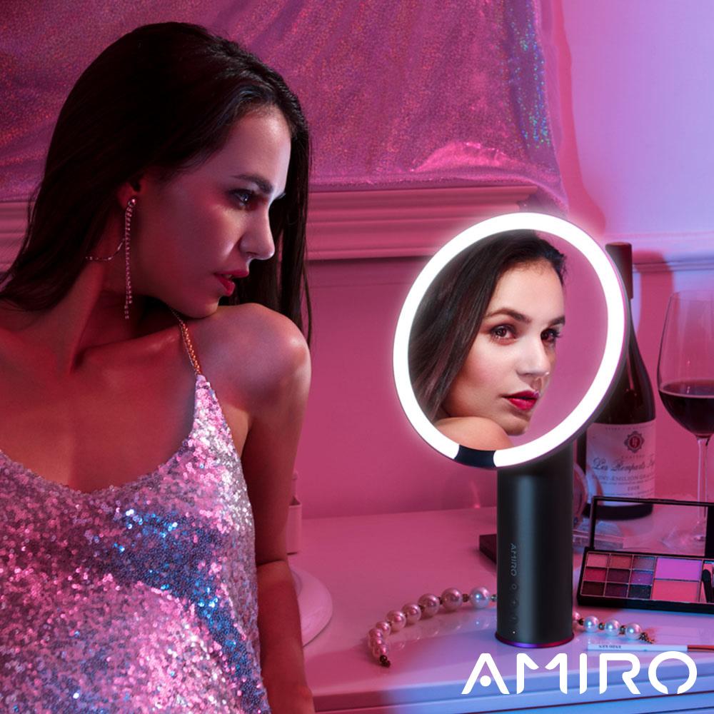 (送束髮帶)AMIRO O 系列高清日光化妝鏡(小黑鏡/無線版) - 深空灰