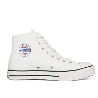 CONVERSE LUCKY STAR HI 經典復刻 中 休閒鞋 白 163158C