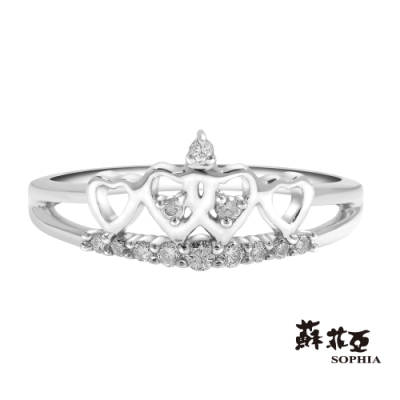 蘇菲亞SOPHIA - 經典皇冠鑽石戒指