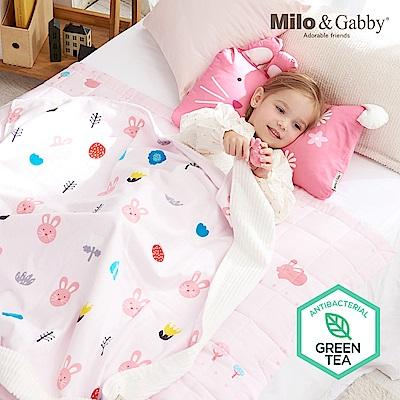 Milo-Gabby-動物好朋友-雙面寶寶棉蓋毯