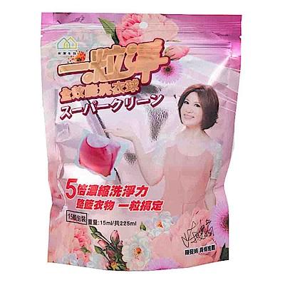 一粒淨 經典香氛全效能洗衣膠囊(15顆*5入)
