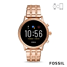 FOSSIL GEN 5智能錶茱莉安娜HR-玫瑰金不銹鋼手錶44MM FTW6035