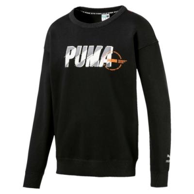 PUMA-男性流行系列XTG Trail圓領衫-黑色-歐規