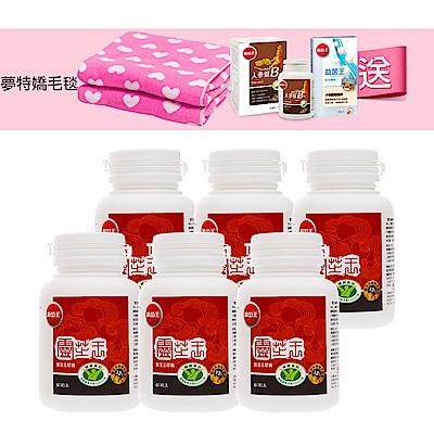 葡萄王 認證靈芝60粒X6瓶 共360粒(國家調節免疫力健康食品認證靈芝多醣12百分比)