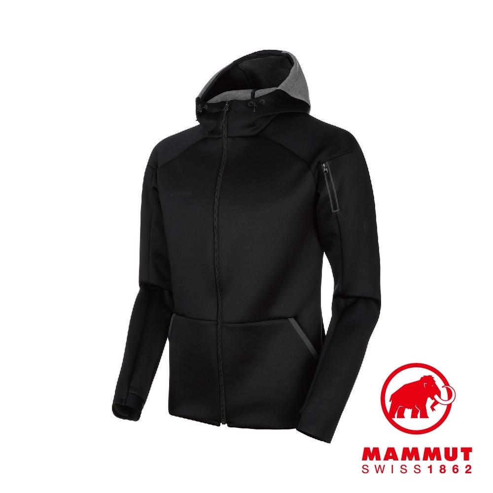 【Mammut 長毛象】Logo ML 彈性機能中層連帽外套 黑色 #1014-00770