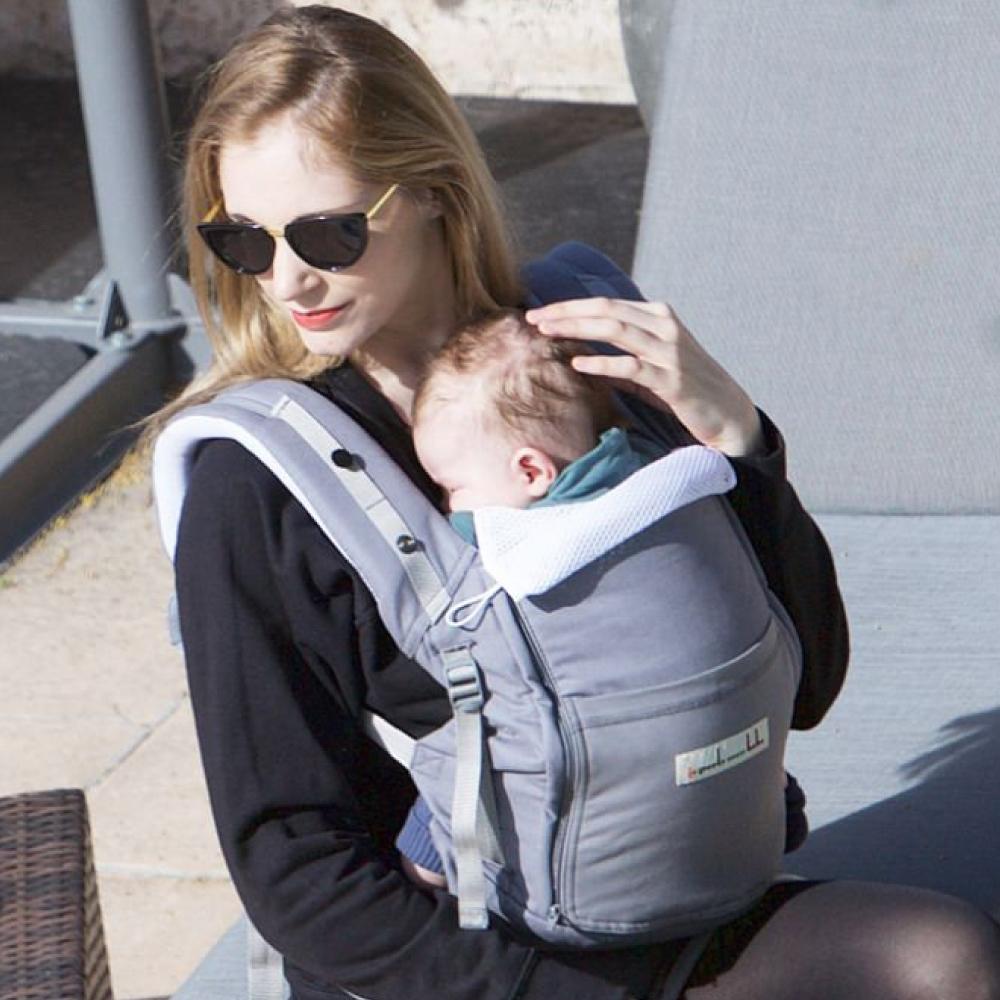 【法國 je porte mon bebe 】JPMBB 四季嬰兒揹帶 - 象灰