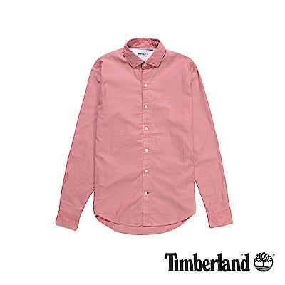 Timberland-男款紅色修身版牛津襯衫