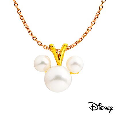 Disney迪士尼系列金飾 黃金墜子-珍珠米奇款 送項鍊