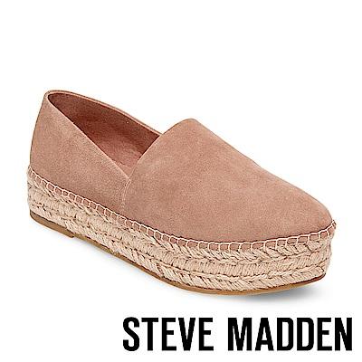STEVE MADDEN-PRISILA 真皮厚底麻編鞋-粉色