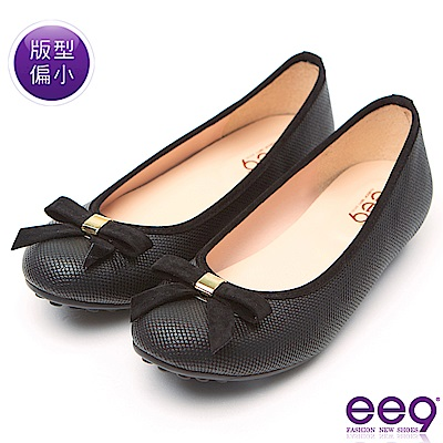 ee9 MIT經典手工優雅蝴蝶結超輕豆豆娃娃鞋 黑色