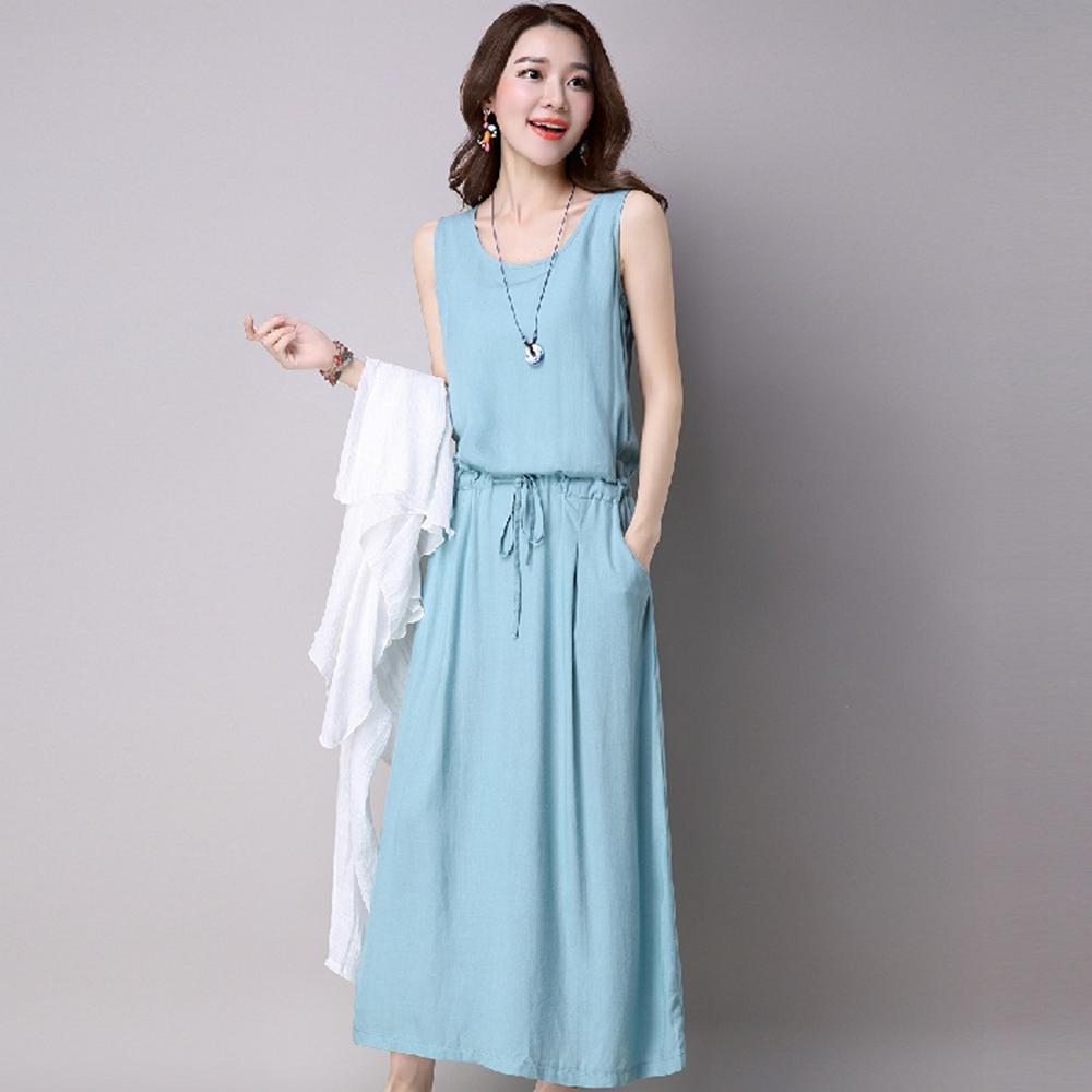 優雅背心裙+垂墜感外套M-2XL(共二色)KVOLL