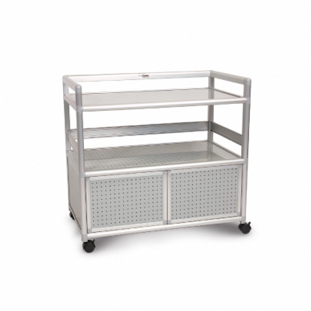 Cabini小飛象-黑花格得意3.0尺鋁合金餐櫃88.5x50.8x83.6cm