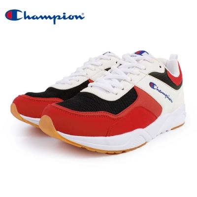 【Champion】TRACE BACK 復古運動鞋 男鞋-白/紅/黑(MFUS-9020-31)