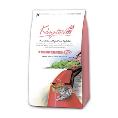Kingston晶燉無穀貓-33%Protein嫩煎雞胸佐輕甜時蔬7KG