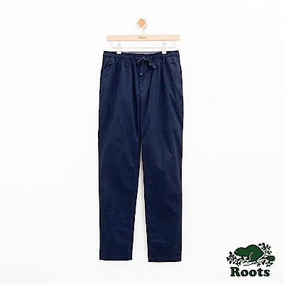男裝Roots 基本款平織長褲-藍