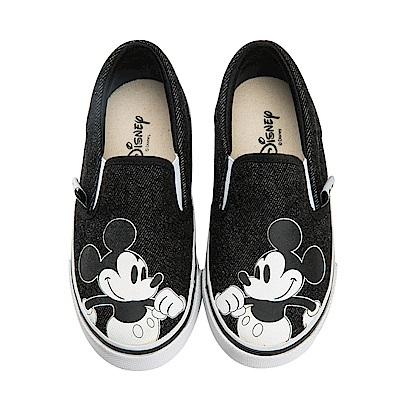 迪士尼童鞋 米奇 復古帆布便鞋-黑