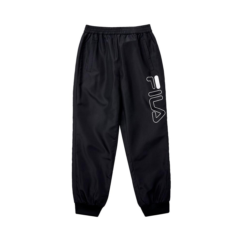 FILA KIDS 童風衣長褲-黑色 1PNT-8912-BK