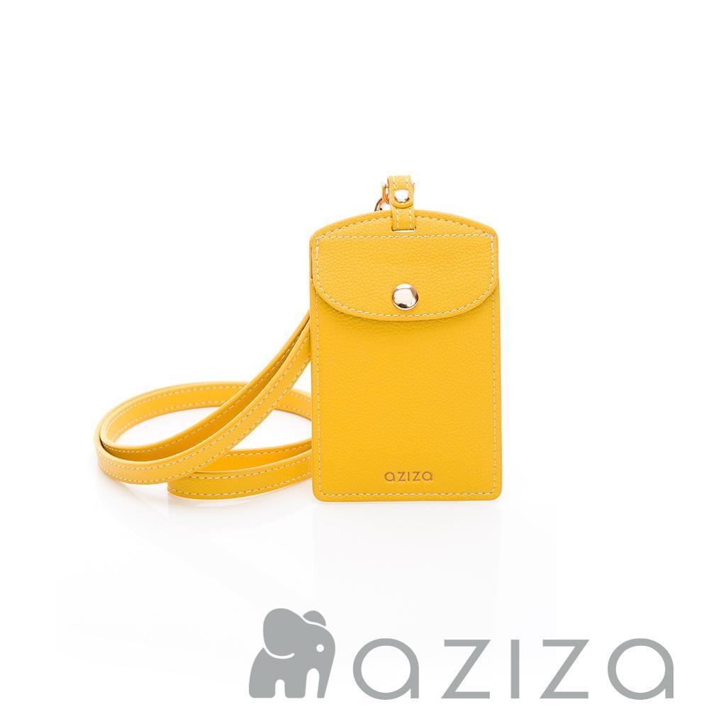 aziza 直式證件套 黃