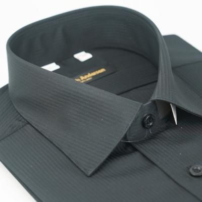 【金‧安德森】黑色吸排窄版短袖襯衫fast